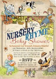 nursery rhyme baby shower rhymes for baby shower invitations party xyz