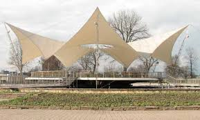 Tent Building Tanzbrunnen Fabric Roof In Cologne Germany Architect Frei Otto