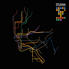 New York Rail Map by Nyc Subway Map Distances Vs Geographic Distances Oc