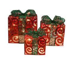 outdoor present decorations lights card and