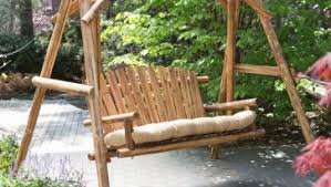 wood porch swing for a total comfort exterior makeover ideas kits