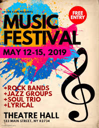 festival brochure template concert band flyer templates postermywall