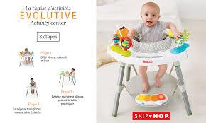 table d activité bébé avec siege baby test skip hop chaise d activités évolutive consobaby
