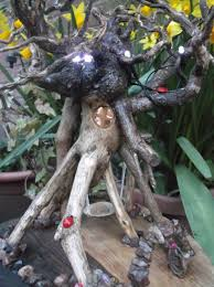 Wooden Solar Lights by The Spider House U2013 Outdoor Ready Fairy House With Built In Solar