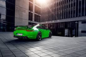 porsche 911 green techart presents porsche 911 carrera 4 models at world premiere