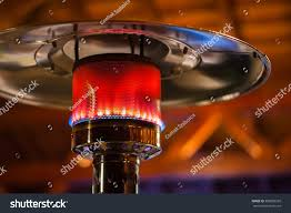 gas ceiling heaters patio design stainless steel metal gas burning stock photo 389828209