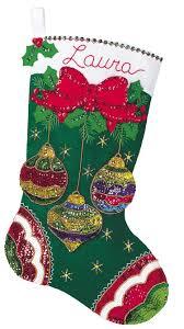 jeweled ornaments bucilla kit