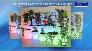 led light pots light up illuminated flower pots lighted plant