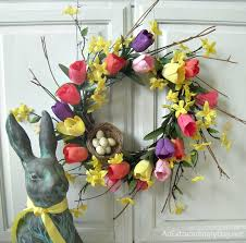 forsythia wreath home decor tulip wreath diy an extraordinary day