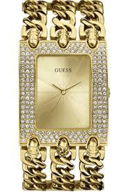 bracelet chain watches images Women 39 s gold guess glitz chain link bracelet watch u0085l1 gif