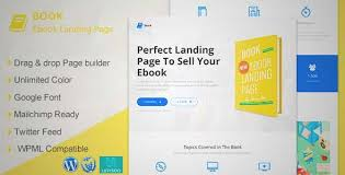 download and review of book responsive ebook landing page