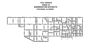 Chicago City Limits Map by 1930