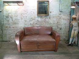 Leather Club Sofa Moustache Backed Leather Club Sofa Bed Vintage Creation