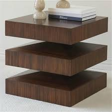 Floating End Table by In U0026 Out End Table Finish Dark Wood From Pulp Home
