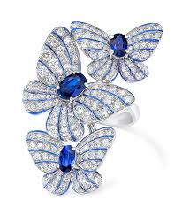 butterfly rings diamond images Butterfly ring with sapphires and diamonds cellini cellini jpg
