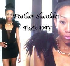 how to make feathered shoulder pads youtube