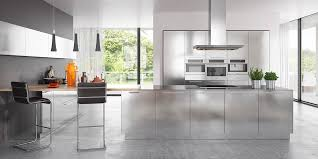 modern kitchen cabinets metal modern clean lines stainless steel kitchen cabinet op17 s30