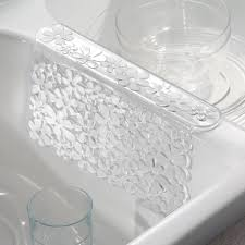 Sink Saddle Mat by Amazon Com Interdesign Blumz Sink Saddle Clear Home U0026 Kitchen