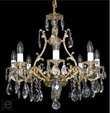 Light Crystal Chandelier Maria Theresa Crystal Chandelier Brass U0026 Strass Chandeliers