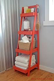 Best 25 Ladder Shelf Decor by Top Ana White Painters Ladder Shelf Diy Projects Regarding Short