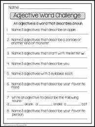 adjectivewordchallenge pdf