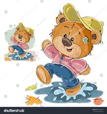 vector illustration brown teddy bear fun stock vector 642953389