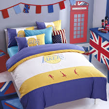 Girls Basketball Bedding by Basketball Bedroom Set With La Lakers Bedding Set Feat Bunting