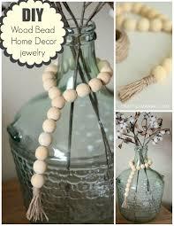 Wooden Home Decor Diy Wood Bead Home Decor Jewelry Craft O Maniac
