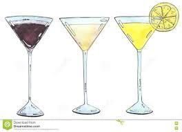 martini espresso hand drawn set of watercolor cocktails espresso martini golden d