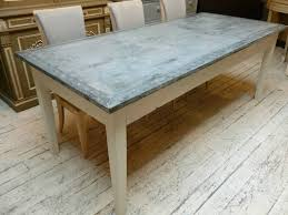 zinc top round dining table u2013 matt and jentry home design