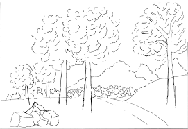 step by step landscape drawing my pen and ink drawings
