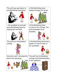 story sequencing red riding hood v1990 teaching
