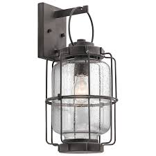 kichler outdoor wall lighting shop kichler montview 17 25 in h weathered zinc medium base e 26