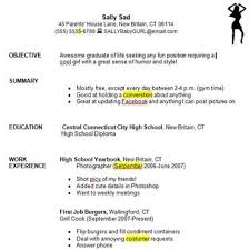My First Job Resume by First Resume Sample My With Regard To High Job Examples 15