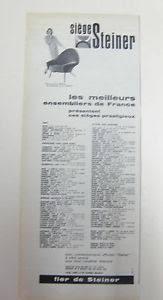 siege steiner publicite ancienne pub advert clipping 051016 siege steiner