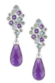 14k gold large diamond amethyst earrings earrings awesome amethyst earrings gold 9ct white gold