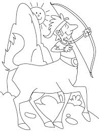 awesome drawing of a centaur colouring page fun colouring