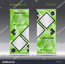 green roll banner template vector illustration stock vector