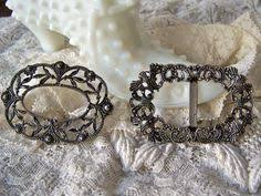 shoe buckle shoe clip shoe ornament belt buckle by cynthiasattic