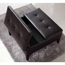 black leather ottoman modern classic black leather ottoman nolan