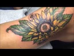 sun flower cover up arm