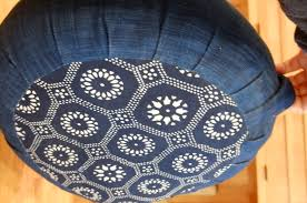 sari pattern zafu meditation cushion zafu indigo fabric with kaleidoscope pattern balance pinterest