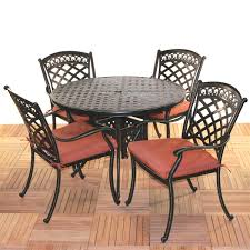 Iron Patio Dining Set Comfortcare 5 Piece Metal Outdoor Dining Set With 42