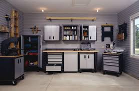 chic cabinets for storage in modern garage creative garage