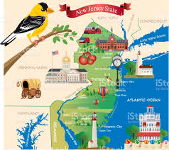 State Of New Jersey Map by Cartoon Map Of New Jersey State Stock Vector Art 802026962 Istock