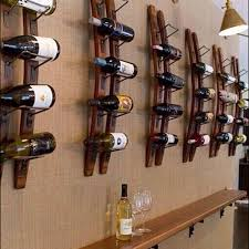 wood wall wine rack wine cup holder hanging wall mounted wine