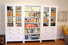 Bookcase With Books Ikea Hemnes Bookcase With Books In Family Room Decorating For A