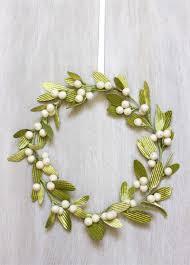 velvet mistletoe wreath urban comfort