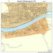 map of williamsport pa south williamsport pennsylvania map 4272648