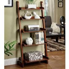 lugo mission style vintage oak finish 5 tier bookcase display